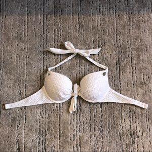 Victoria's Secret White Push Up Bikini Top 🔥